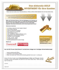 Lead-Motor Landingpage Gold
