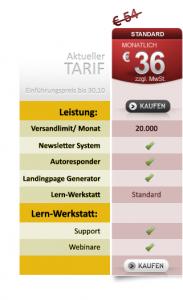 Preis Sonderaktion monatlich bis 30.10.2012