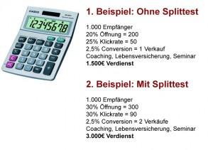 Splittest-Beispiel