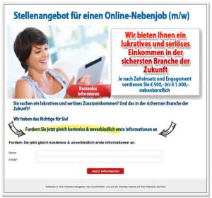 Stellenangebot_Network-Marketing_Landingpage_Lead-Motor