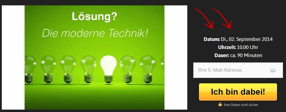 E-Mail-Verteiler Webinar Screenshot
